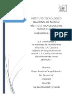 clasificación y terminología de los disturbios eléctricos