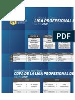 Fixture del torneo de la Liga Profesional