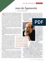 """""""Las razones de Agamenón"""", Ignacio Echevarría"""