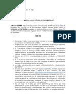 DERECHO DE PETICION AMPARO GOMEZ
