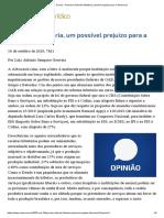 ConJur - Gouveia_ Reforma tributária, possível prejuízo para a Advocacia