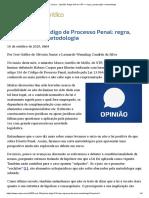 ConJur - Opinião_ Artigo 316 do CPP — regra, ponderação e metodologia