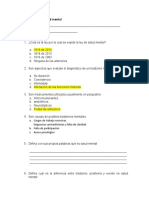 Examen guía de salud mental
