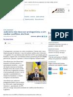ConJur - Judiciário não deve ser protagonista, mas mediar conflitos, diz Aras.pdf