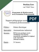 22. Automatisme industriel_Travaux pratiques sur le rebobinage d'un moteur asynchrone monophasé et triphasé et de réparation (Niveau avancé)