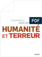 EBOOK Hannah Arendt - Humanite et Terreur