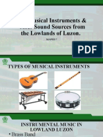 Musical Instruments & other sounds of Lowland Luzon