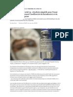 Traitements du Covid-19 _ résultats négatifs pour l'essai Solidarity, confirmant l'inefficacité du Remdesivir et de l'hydroxychloroquine