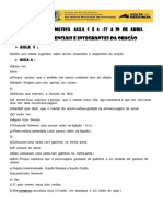 Gabarito Gram ativ 5  e 6  27  a 30  de  abril