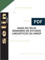 Anais SELIN_Unesp (2010)