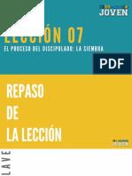 Lección 7  REPASO  ESPACIO JOVEN