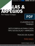 BAJO - GRATIS - Libro  de Escalas y Arpegios