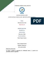 PRACTICA IV DE REDACCION Y ESTILO , YOAIRY