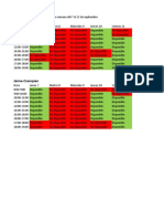 Disponibilidad horarios para charla tesis de magister Andres Riffo