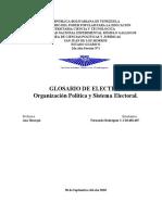 Glosario de Electiva 2do Lapso con conceptos basados en nuestra Constitución de la República Bolivariana de Venezuela