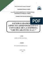"GENERALIDADES DEL ASPECTO ADMINISTRATIVO Y CONTABLE DE LA EMPRESA ""GRUPO ARANCEL S.A.C."".docx"