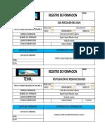 registro de Formación