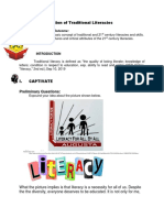 Definition of Traditional Literacies