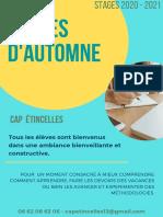 Cap Etincelles Stages Automne 20 21-2