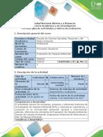 Guía de Actividades y Rúbrica Fase 1 - Descripción y antecedentes de la evaluación de impacto ambiental