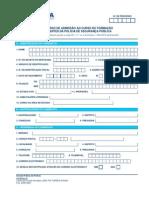 Curso de Foramção de Agentes - Requerimento de Admissão ao Procedimento Concursal