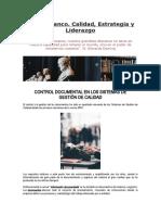 CONTROL DOCUMENTAL EN LOS SISTEMAS DE GESTION DE CALIDAD