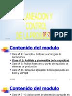 ANALISIS Y PLANEACION DE LA CAPACIDAD