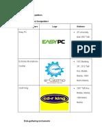 ListOfCompetitors&DataGathering