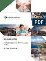 cnPilot Enterprise Wi-Fi Access Points 4.1 Release Notes.pdf