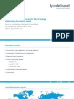 20-Lyondellbasell-Developments in Polyolefin Technology