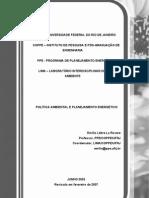 POLÍTICA AMBIENTAL E PLANEJAMENTO ENERGÉTICO - Emílio La Rovère