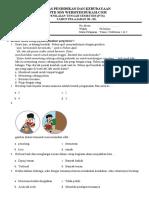 Soal PTS Kelas 3 Tema 2 Sub 1&2