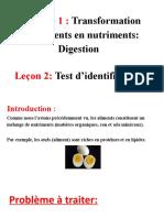 La digestion - test d'identification