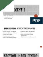 Assignment 1 Webdesign MERIT