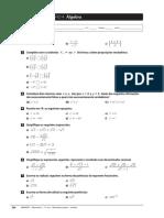 Ficha de Trabalho 04 - 10 Ano - Algebra