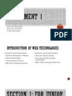 Assignment 1- slide part Webdesign MERIT