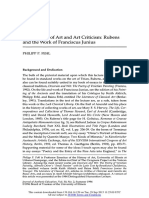 Touchstones of Art and Art Criticism Rubens and the Work of Franciscus Junius