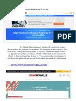 FONCTIONNEMENT D'UNE PAGE WEB