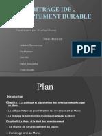 Arbitrage IDE , développement durable