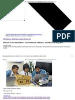 Más de 20 mil estudiantes y docentes de institutos tendrán internet gratis _ Gobierno del Perú