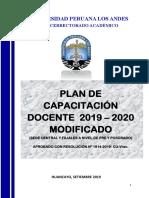 Plan de Capacitación Docente 2019-2020-1