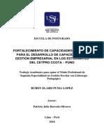 FORTALECIMIENTO DE CAPACIDADES DOCENTES PARA EL DESARROLLO DE CAPACIDADES DE GESTIÓN EMPRESARIAL EN LOS ESTUDIANTES