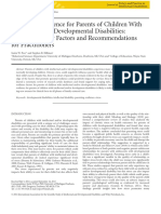 Stress and Resilience for Parents of Children With Intellectual and Developmental Disabilities