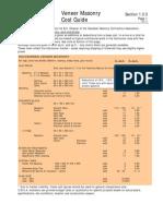 1.3.3 Veneer Masonry cost guide
