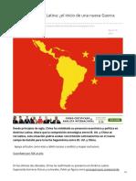 China en A Latina nueva Guerra Fría