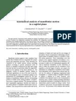 Kinematical analysis of mandibular motion