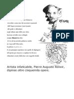 STORIA DELL' ARTE PIERRE AUGUSTE RENOIR