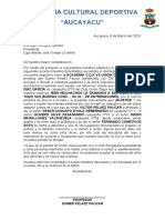 ACADEMIA DE FUTBOL CULTURAL AUCAYACU DUMER PELAEZ