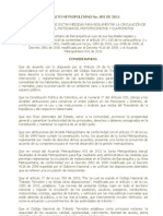 DECRETO METROPOLITANO No 001 de 2011