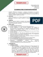 LINEAMIENTOS GENERALES DE PLANIFICACION OPERATIVA